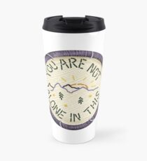 Mumford & Sons Timshel Embroidery Style Patch Travel Mug