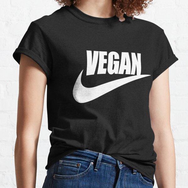 blanc végétalien T-shirt classique