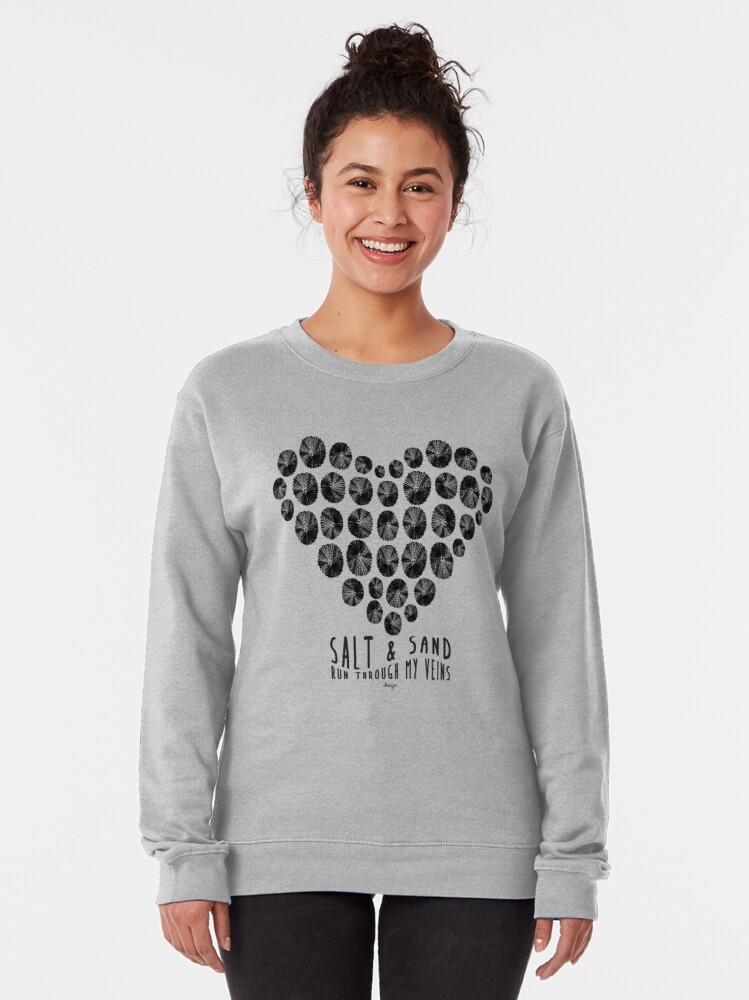 Alternate view of Salt and Sand design Pullover Sweatshirt