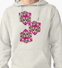 Patterned Body Paint Collection Pink Fusion Pullover Hoodie