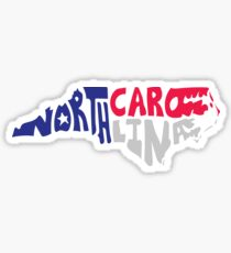 North Carolina Typography Sticker