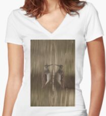 Knocking Yourself? Women's Fitted V-Neck T-Shirt