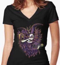 Malevolent Gaze Women's Fitted V-Neck T-Shirt