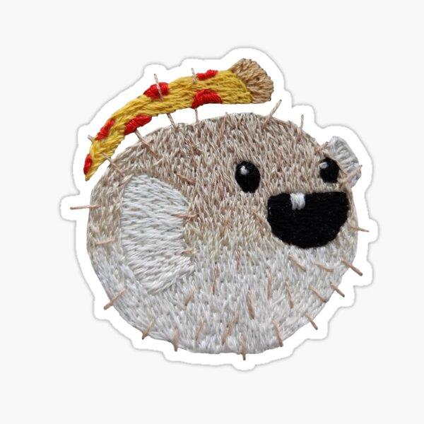 Pizza Pufferfish Sticker