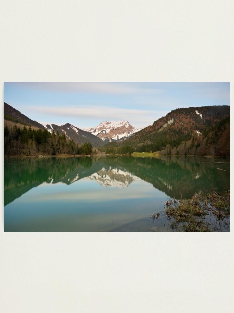 Alternate view of Springtime dusk on Vallon lake Photographic Print