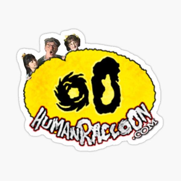 Human Raccoon Logo: Donut Man Sticker