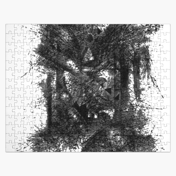 #illustration, #engraving, #tree, #one, #winter, #old, #etching, #snow, #monochrome Jigsaw Puzzle