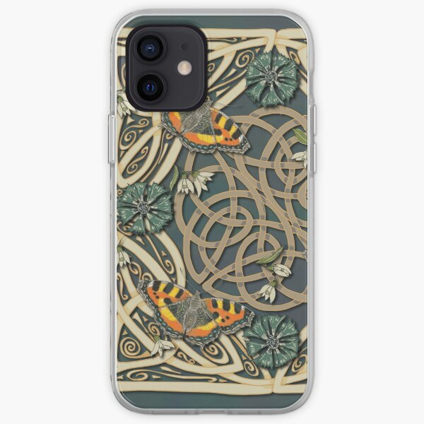 Tortoiseshell Butterflies Celtic Swirls iPhone Soft Case