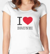 I ♥ BRUNEI Women's Fitted Scoop T-Shirt