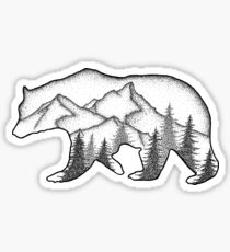 Bear Wild Sticker