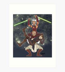 Obi Juan needs some ho Art Print