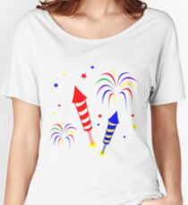 Holiday Fireworks Merchandise Women's Relaxed Fit T-Shirt