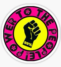 Pink Power to the People Sticker