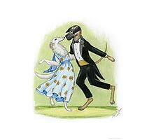 Dancing Dogs Photographic Print