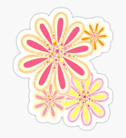 Petals and Dots Sticker