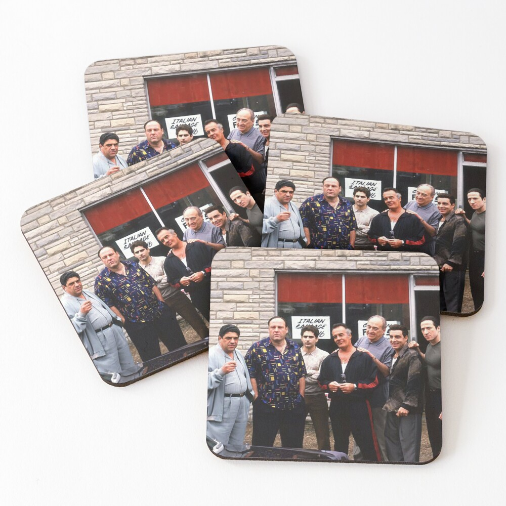 The Sopranos Satriale's Group Picture - Brush Strokes Coasters (Set of 4)