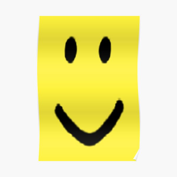 Roblox Halloween Noob Face Costume Smiley Positive Gift Poster