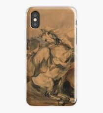 """Piotr Michałowski, """"An Encounter of the French Infantry with Arab Cavalry"""",  iPhone Case"""