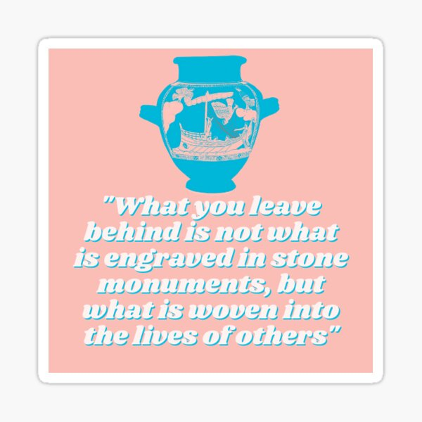 Pericles Quote with Siren's Vase Sticker