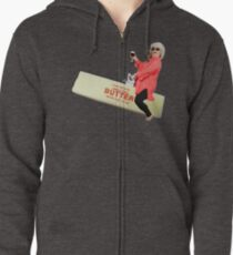 Paula deen riding butter Zipped Hoodie