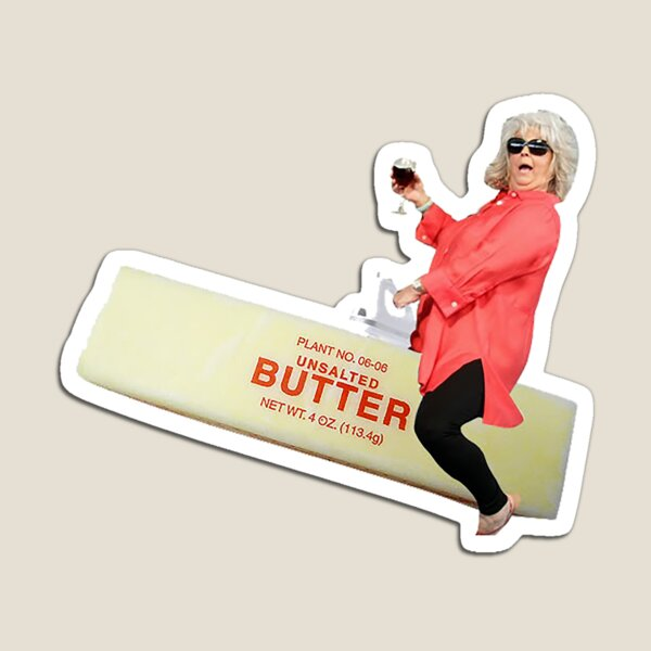 Paula deen riding butter Magnet