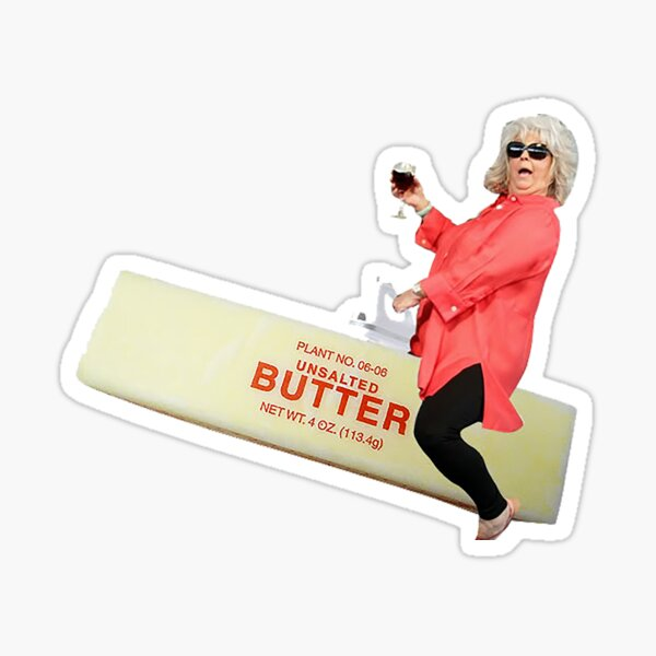 Paula deen riding butter Sticker