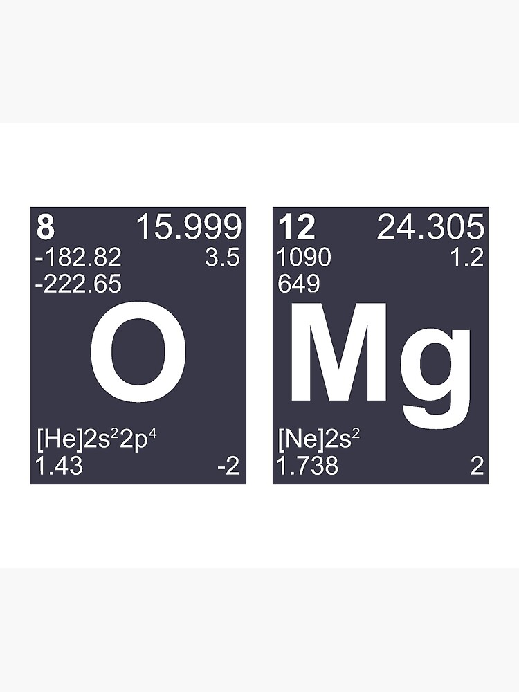 OMG Oh My God Periodic Table Elements by TheShirtYurt