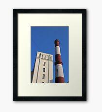 striped chimney power station Framed Print