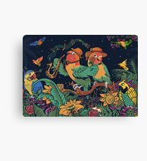 loving bird and friend Canvas Print