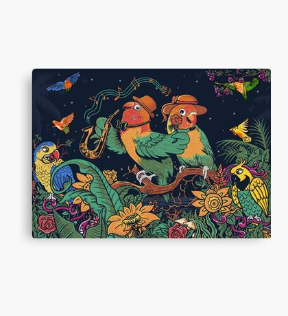 loving bird and friend Canvas Print