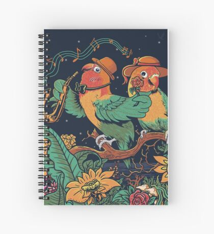 loving bird and friend Spiral Notebook