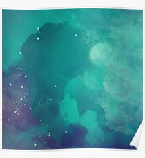 Night sky [watercolor] Poster