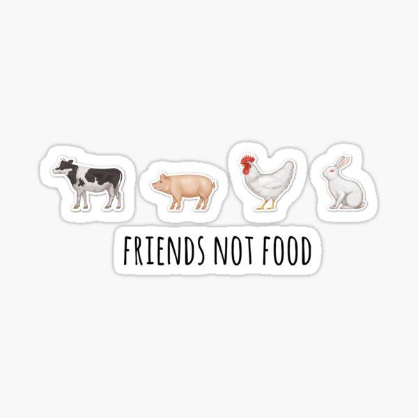 Amigos, no comida II Pegatina