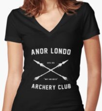 ANOR LONDO - ARCHERY CLUB Women's Fitted V-Neck T-Shirt