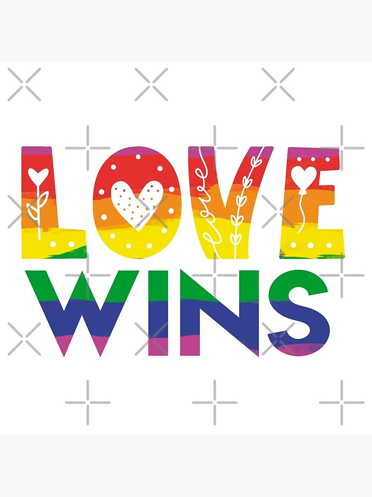 Love Wins Cutesy Doodle  by MaeganCook