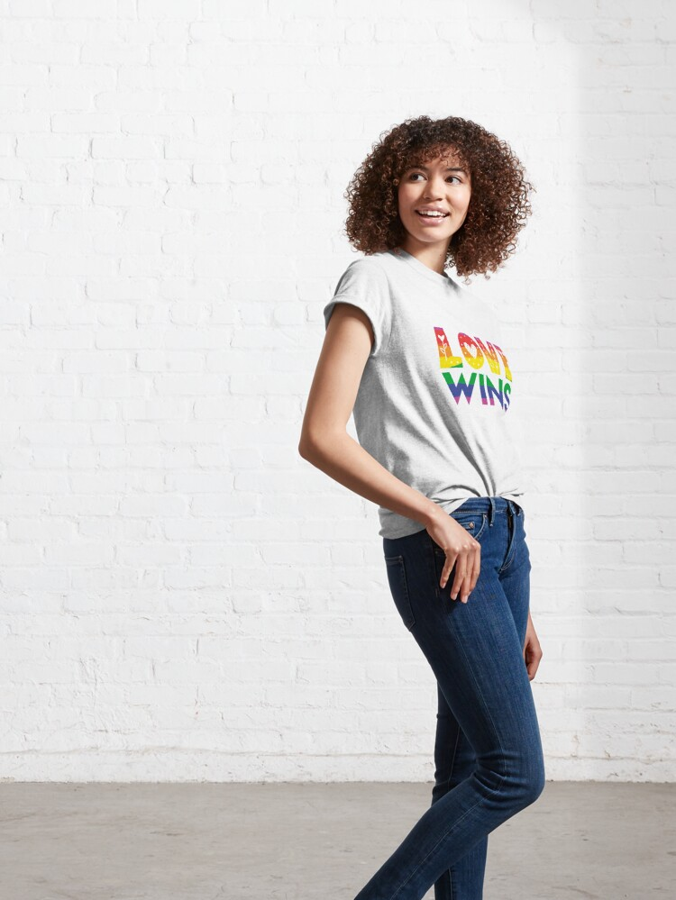Alternate view of Love Wins Cutesy Doodle  Classic T-Shirt