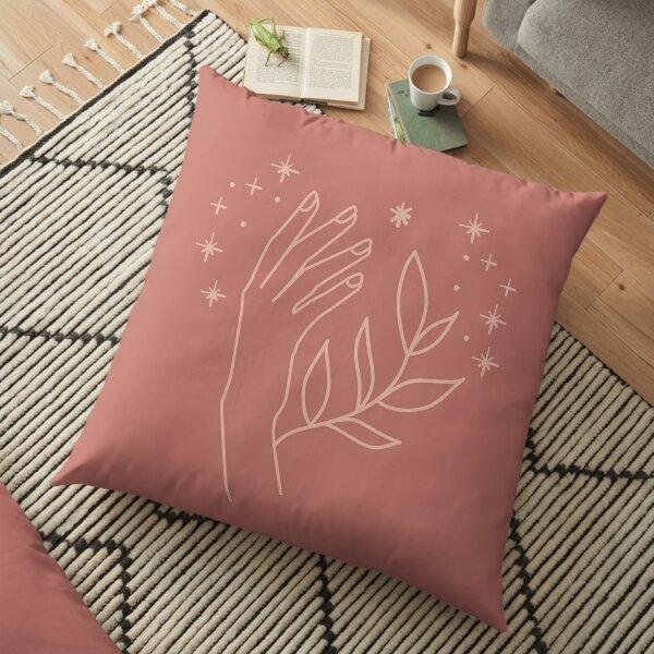 Hand Illustration Poster, Mystic Hand Illustration  Floor Pillow