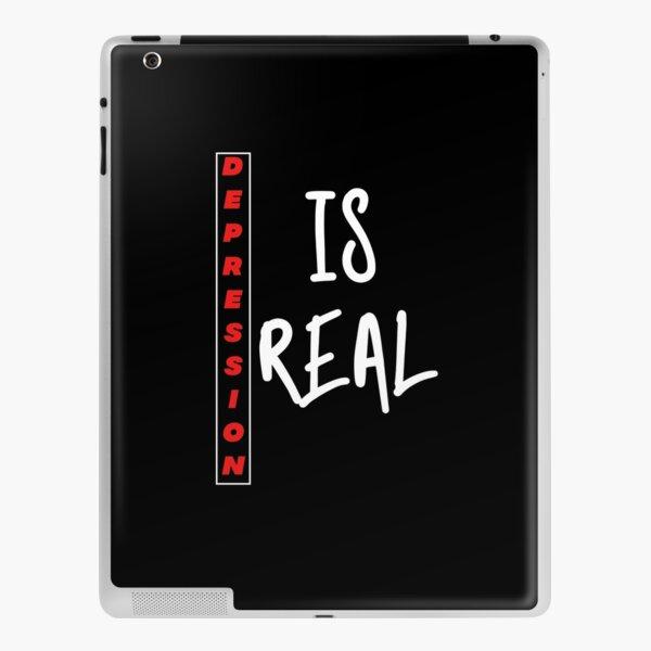 Depression is real iPad Skin