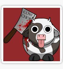 Cow Chop Bloody Knife BG Sticker