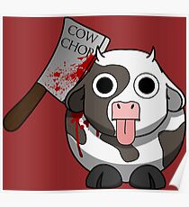 Cow Chop Bloody Knife BG Poster