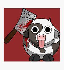 Cow Chop Bloody Knife BG Photographic Print