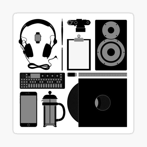 Studio Objects Vector Illustration Sticker