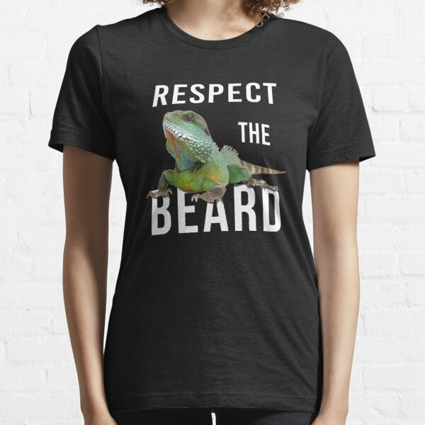 Respect The Beard Bearded Reptile Friends Essential T-Shirt