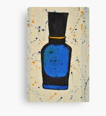Perfume bottle and ink 5 Canvas Print