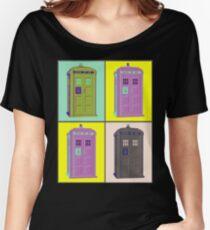 TIMEY WIMEY WARHOL TARDIS 1 Women's Relaxed Fit T-Shirt
