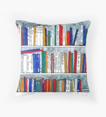 complete works of Shakespeare bookcase Throw Pillow