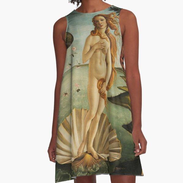 Botticelli |Die Geburt der Venus |Jack Joblin Design A-Linien Kleid