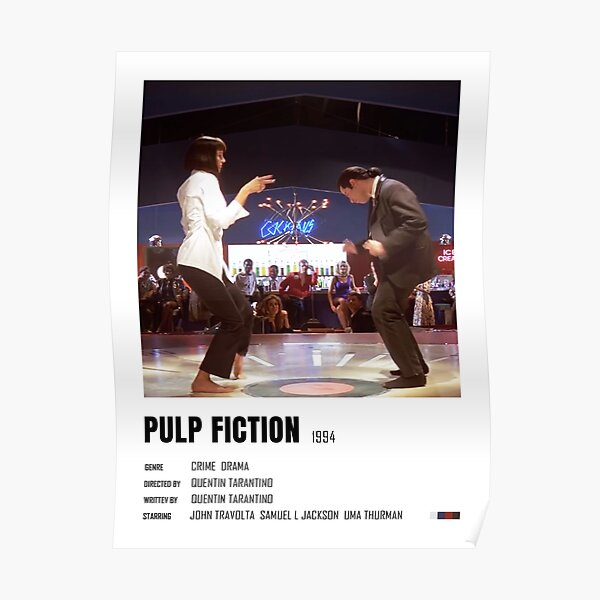 Pulp Fiction minimalist poster Poster