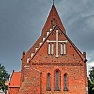 Red Brick Church on the Baltic Sea by Remo Kurka