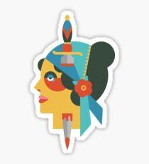 Flate Design Gypsy Tattoo Sticker